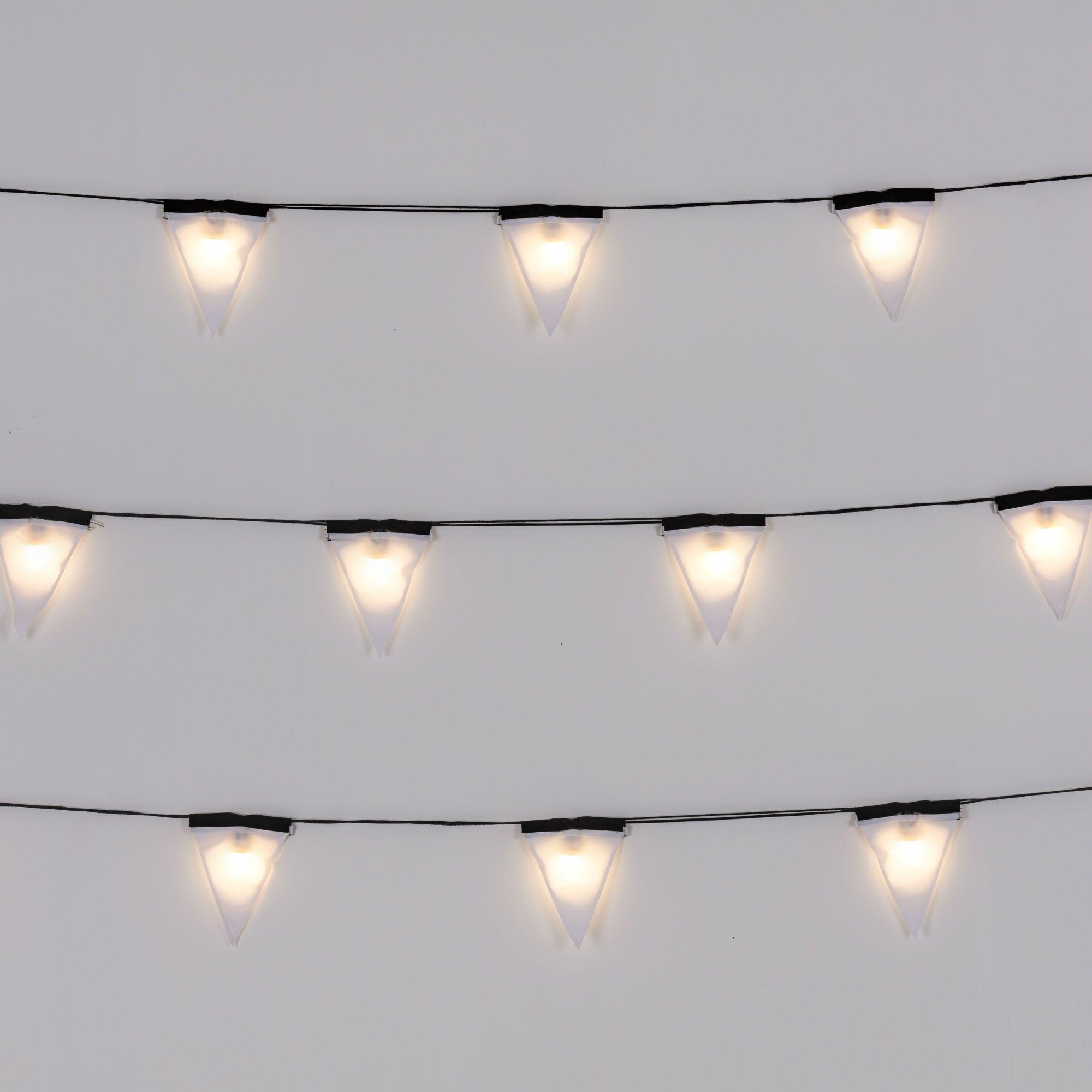 Guirlande Lumineuse Fanions d exterieur LED Blanc L4 5m SAGRA