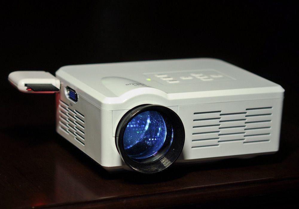 80 Lumen Mini LED Projector (White)