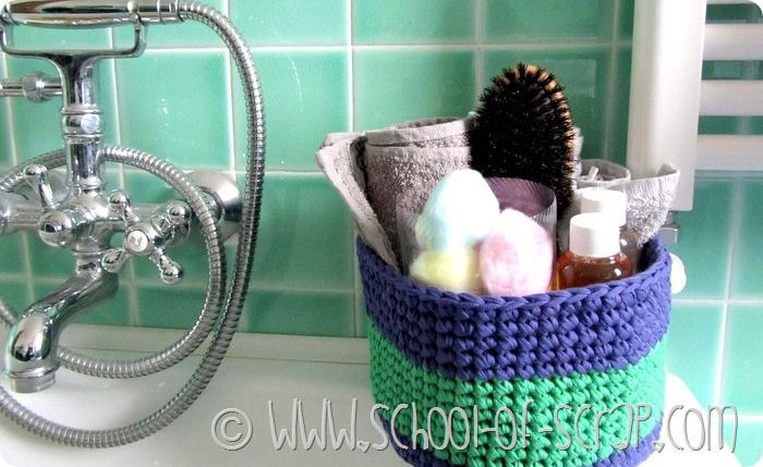Scuola Di Uncinetto Come Fare Un Cestino Per Il Bagno Crochet Box