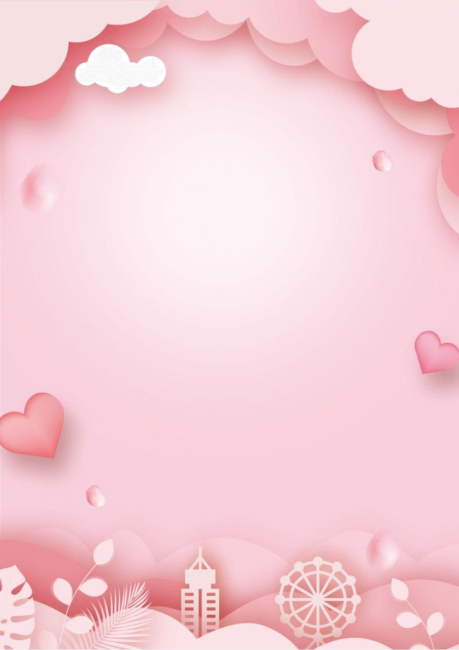 Beautiful White Valentine Background Valentine Background Pink Background Valentine