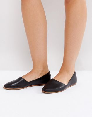 e9b21e550f1 ALDO Blanchette Black Leather Flat Shoes | SHOES in 2019 | Black ...