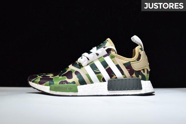 Bape x Adidas Originals NMD R1 Sneakers