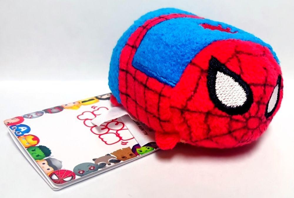 "Disney Authentic Tsum Tsum Marvel Avenger Spiderman 3.5"" Plush Toy - Super Hero"