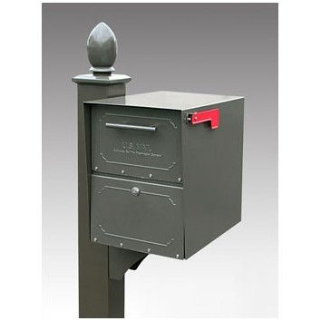 Oasis Locking Post Mounted Mailbox Architectural