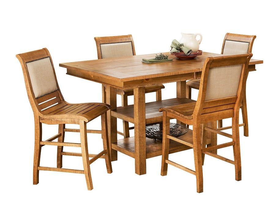 Slumberland  Willow Collection  Pine Rectangular Counter Set Magnificent Slumberland Dining Room Sets Design Inspiration
