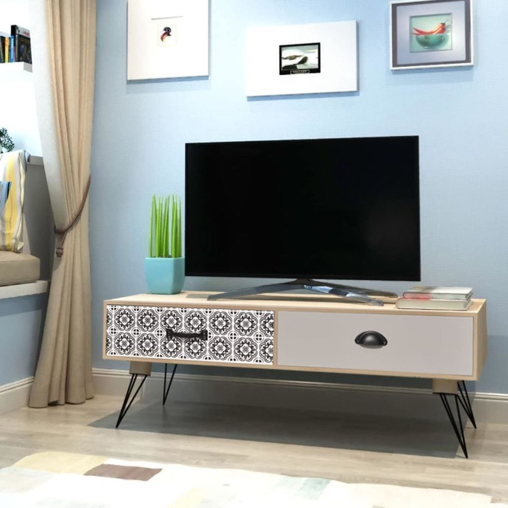 4k Smart Led Tv Stand Mid Century Entertainment Console Retro  # Meuble Tv Hifi Vintage