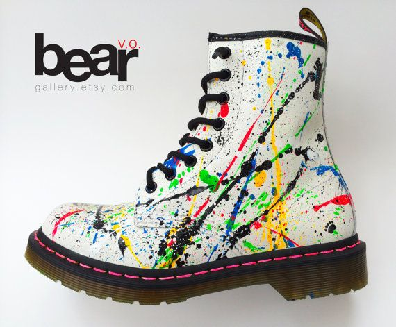 Custom Painted 90's Splash Doc Martens Custom Hand Painted