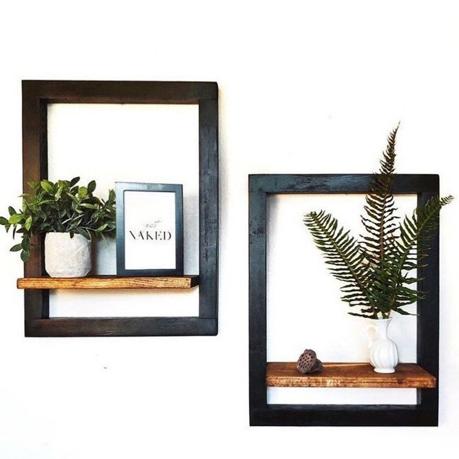 Photo of Frame Wooden Floating Shelves