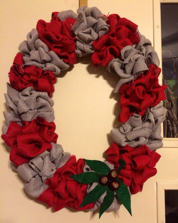 Items similar to OSU Ohio State Buckeyes Burlap Wreath! on Etsy