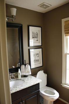 Brown Black Beige Bathroom