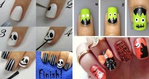 30 gorgeous and spooky halloween nail art inspirations that will 30 gorgeous and spooky halloween nail art inspirations that will blow your mind cute diy solutioingenieria Image collections