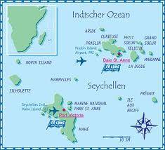 Mapa De Islas Seychelles Seychelles Islas Y Maldivas