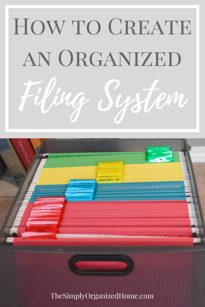 Create An Organized Filing System Paper Clutter Organization