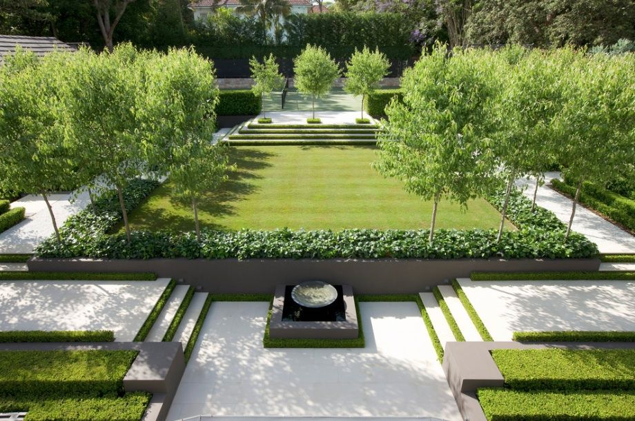 decoration modern landscape design for garden with beautiful view and green grass and stone path create - Living Gardens Landscape Design