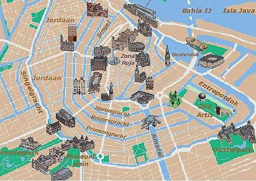 Image result for mapa de amsterdam turistico