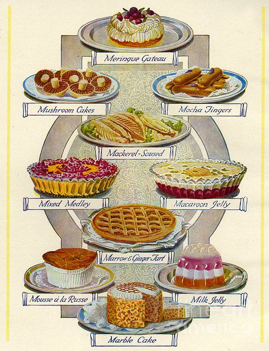 1920s Uk Food Magazine Plate Canvas Print / Canvas Art by The Advertising…