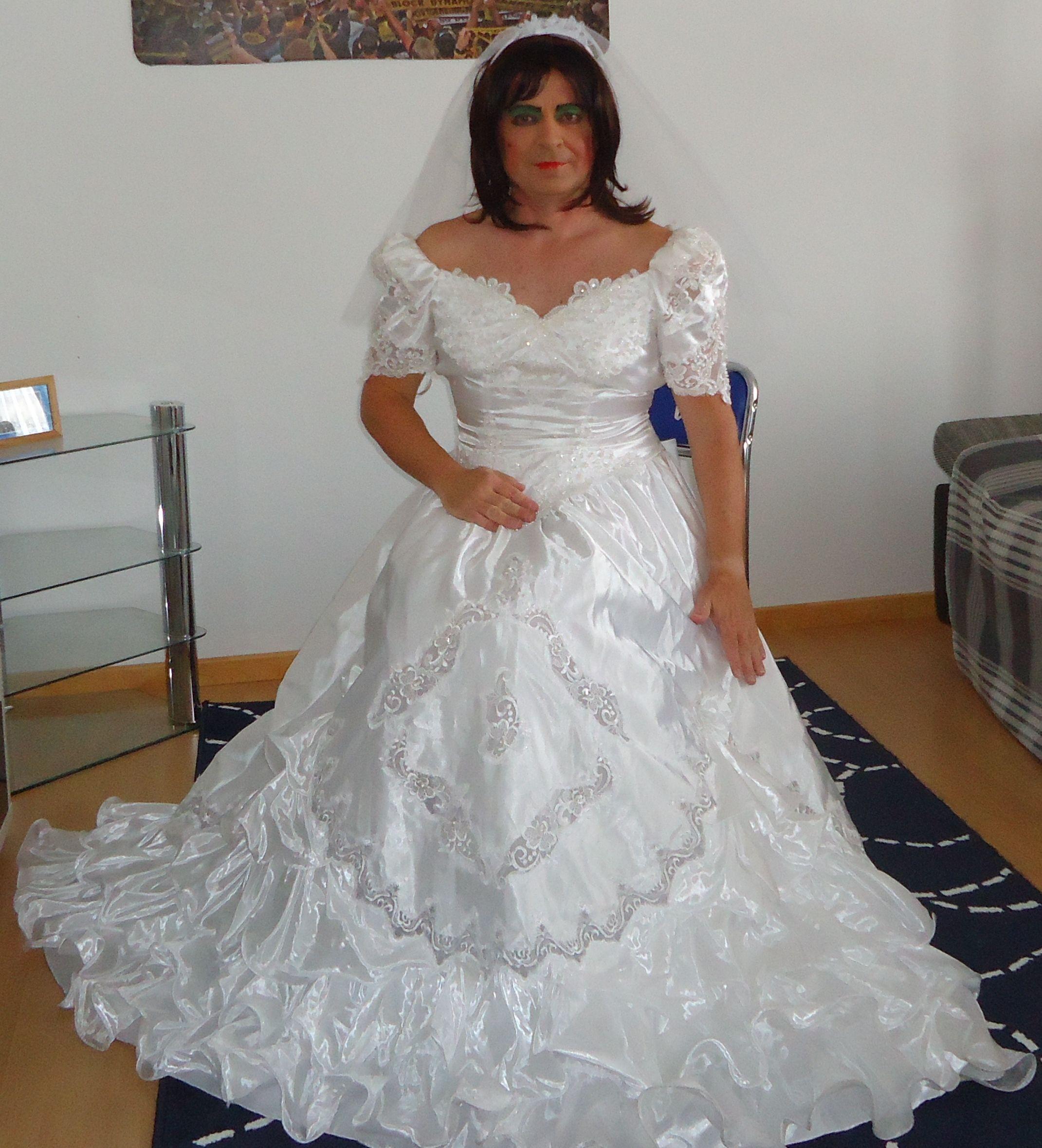 """Crossdresser """"britta Korrell"""" Brautkleid Braut Prinzessin"""