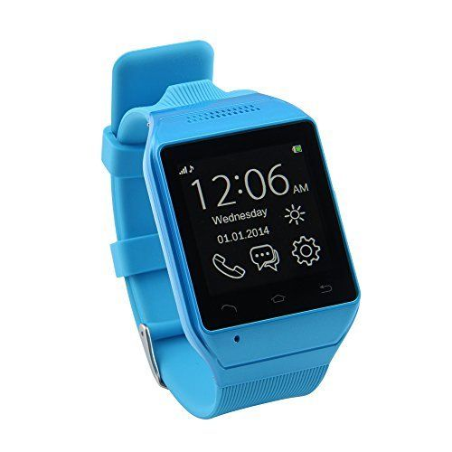 """LEMFO® S19 Bluetooth Smart Watch Phone 1.54"""" Touch Screen GSM Support SIM TF Camera Smartwatch for Android Cell Phone Sync SMS Phone Book Call History APP Notification (Blue), http://www.amazon.co.uk/dp/B00LP90SLQ/ref=cm_sw_r_pi_awdl_TkZDub1GW729M"""