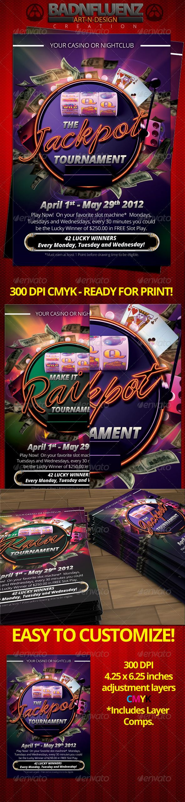Casino 4x6 Flyer Flyer Template Print Templates And Graphic