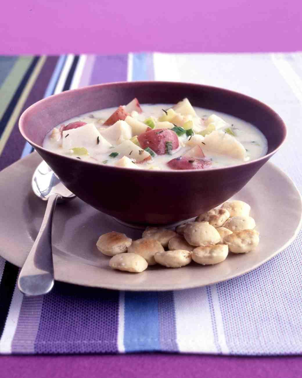 Potato Fish Chowder Recipe Fish Chowder Quick Soup Recipes