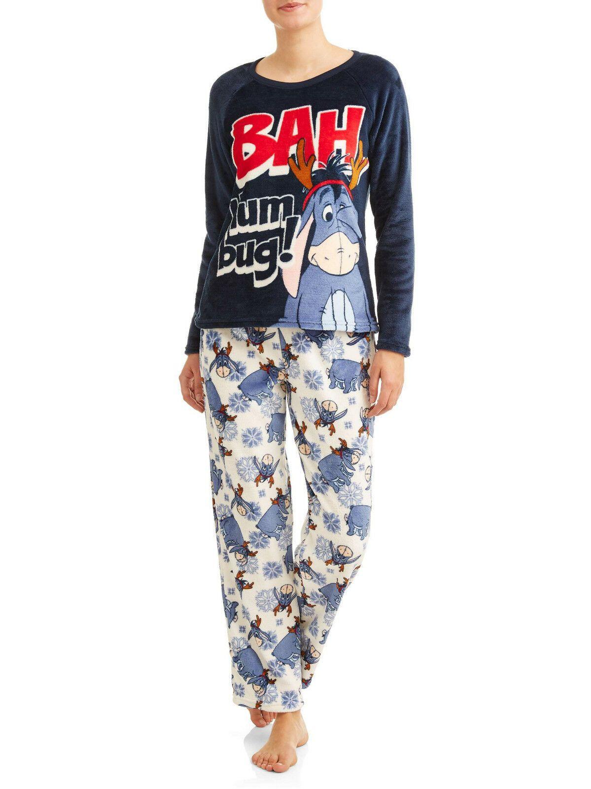 Details about 2Pc EEYORE Soft Plush Pajama Set Top