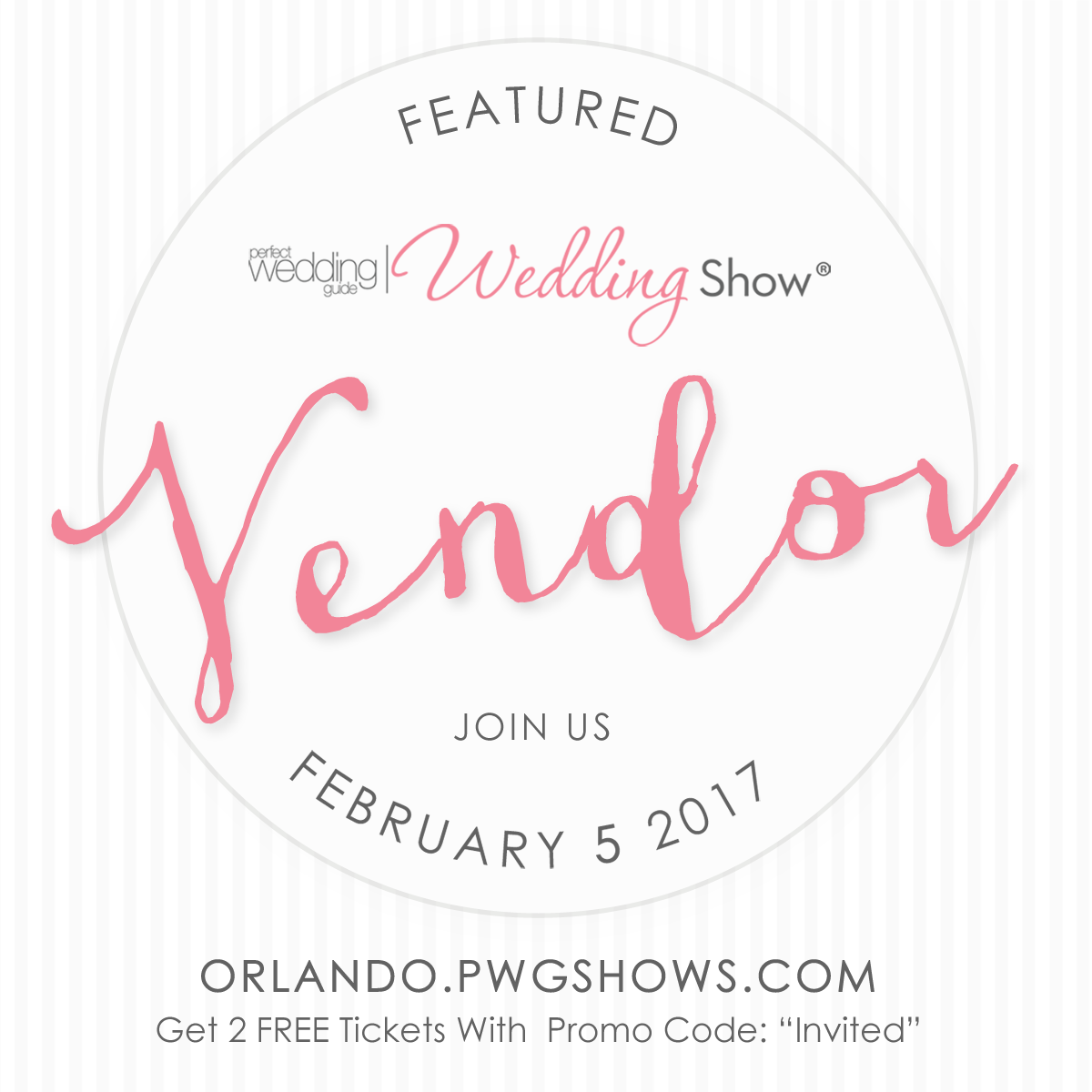Join Us At Orlando S Perfect Wedding Guide Wedding Show And Use Promo Code Invited To Save Wedding Show Orlando Wedding Planner Perfect Wedding Guide