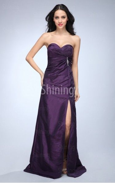 Purple A-line Floor-length Sweetheart Dress £42.00