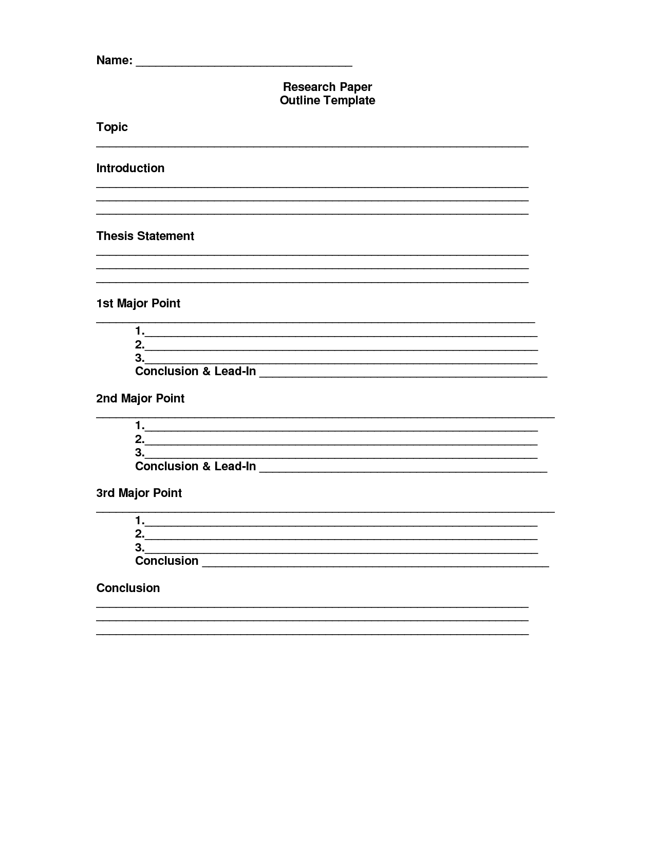 b>Essay</b> <b>Outline</b> <b>Template</b> - DOC | Just perfect ...