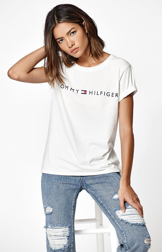Tommy Hilfiger Graphic T Shirt Tommy Hilfiger Outfit Tommy Hilfiger Shirts Women Tommy Hilfiger Shirts