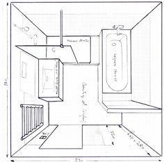 r sultat de recherche d 39 images pour salle de bain de 6m2 baignoire douche wc projets. Black Bedroom Furniture Sets. Home Design Ideas
