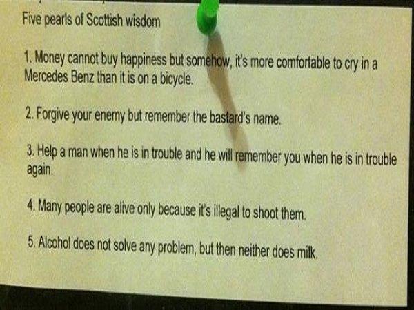 Five Pearls Of Scottish Wisdom | Worth the laugh | Wisdom