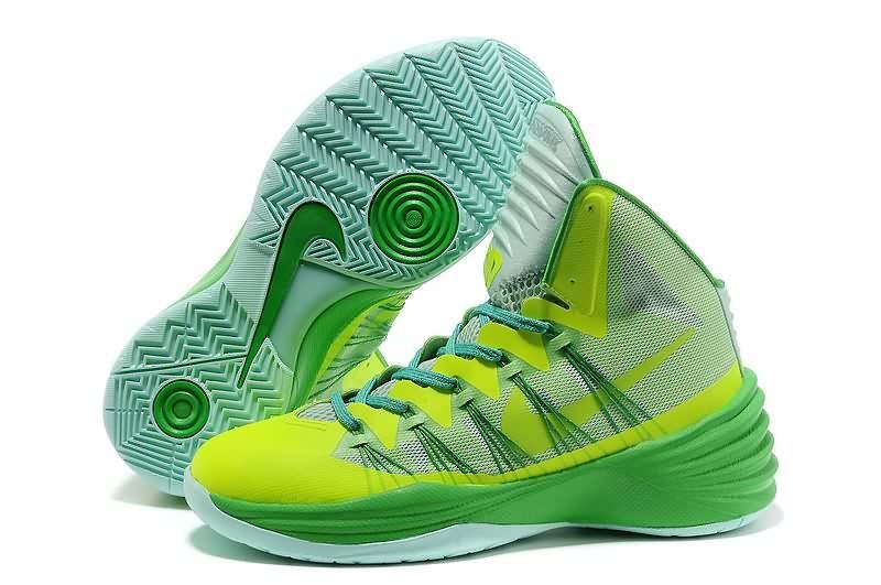 2014 Original Nike Hyperdunk 2013 XDR Fluorescent Green Men Basketball Shoes