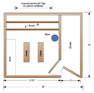 Chicken coop inside layout - photo#38