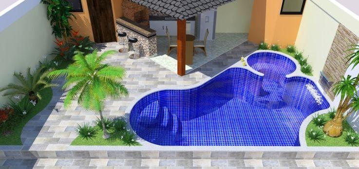 Piscina piscinas pr ximas ao muro pinterest for Piscinas de fibra costa rica