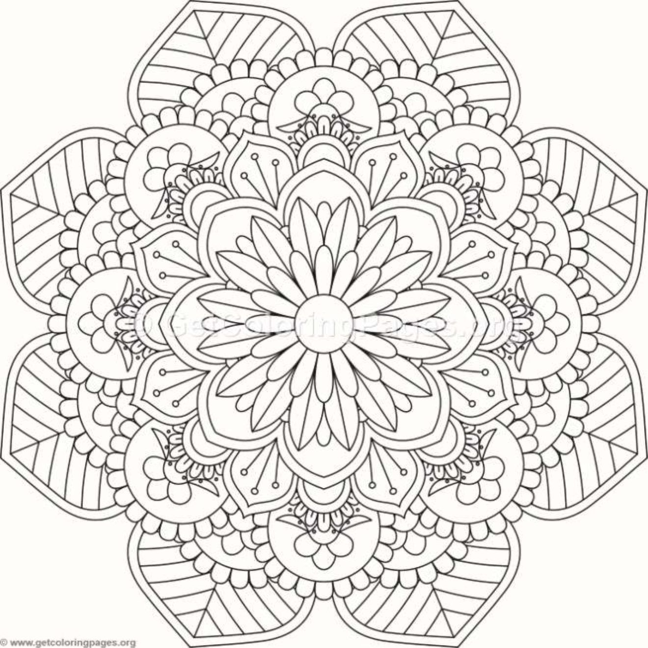 Flower Mandala Coloring Pages #505 – GetColoringPages.org ...