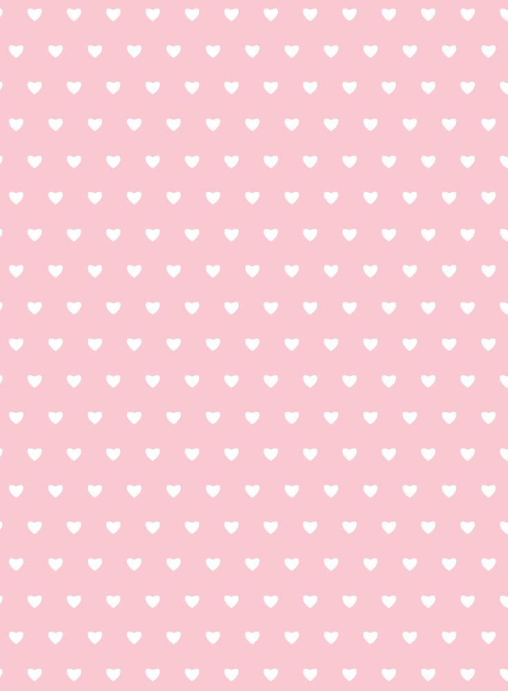 Pastel pink and white heart print nursery wallpaper ...