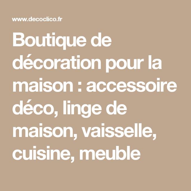Boutique de décoration pour la maison decoclico