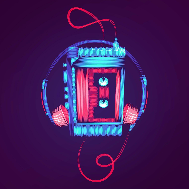 patrick seymour digital art electric colour walkman
