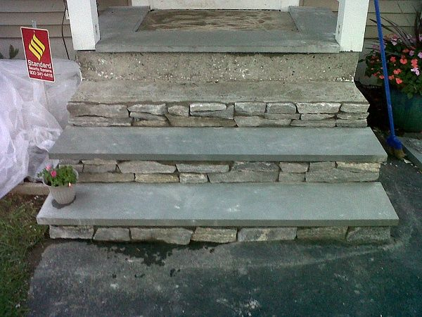 Beautiful great idea to reface concrete steps, I stole this idea from Emily  DC79