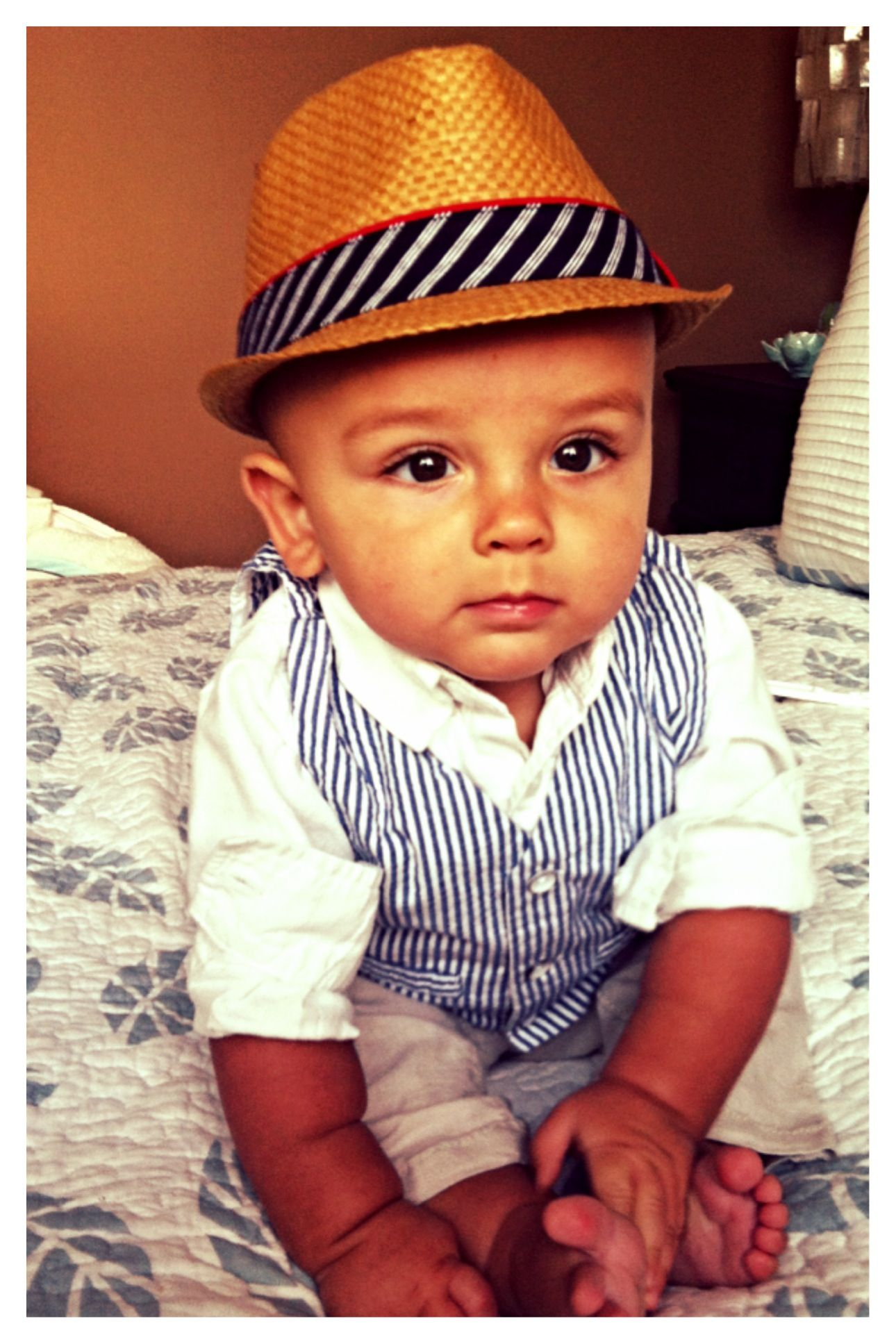 Pretttttty sure he s the best thing I ve ever created. Beautiful baby boy  hat vest cute 78bfed2f31f