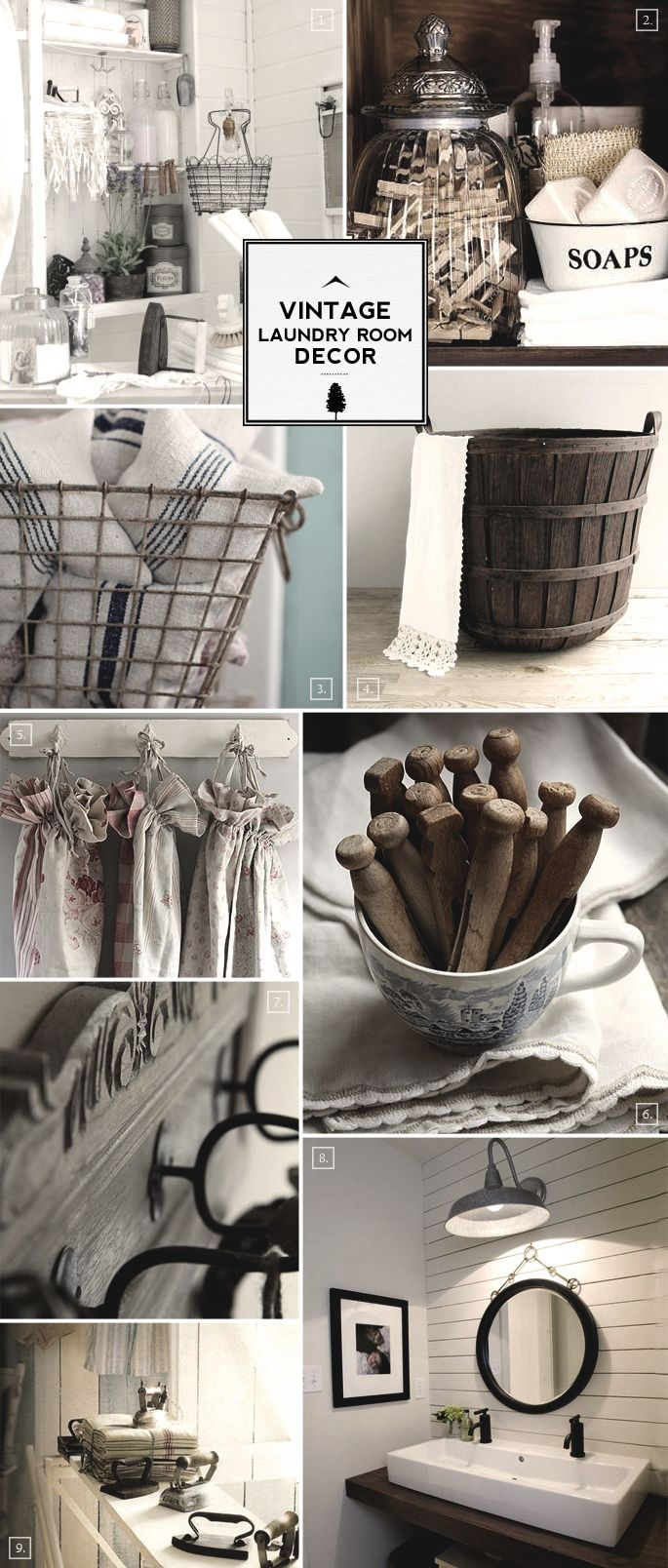 Style Guide: Vintage Laundry Room Decor Ideas | Vintage laundry ...