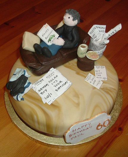 Cake Designs For 70 Year Old Man : cool at 60 theme cake for man - Google Search Projects ...