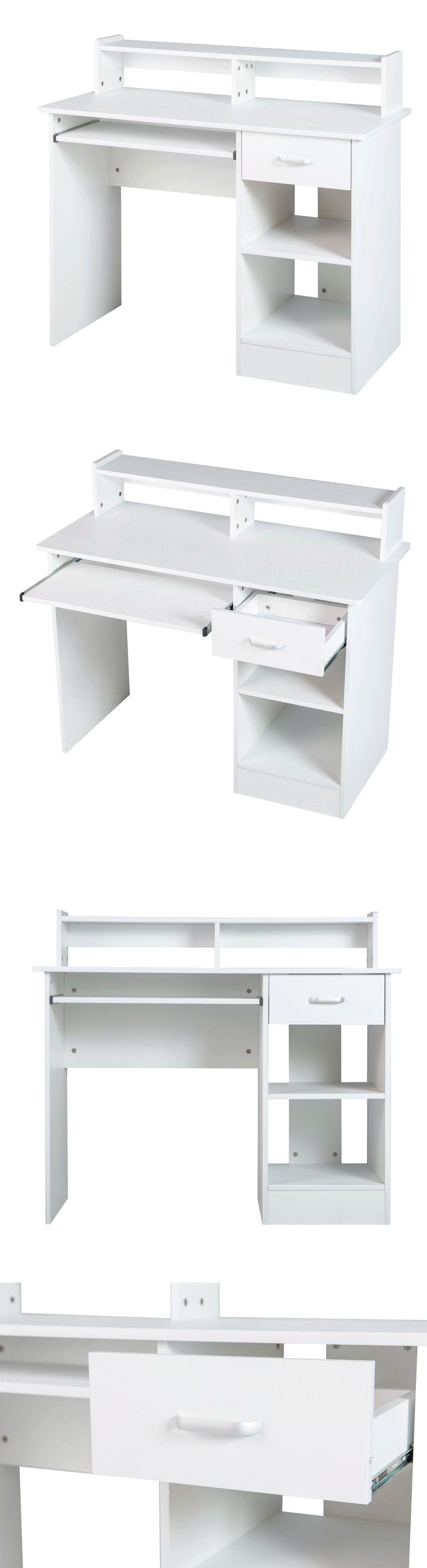Desks and Home Office Furniture 88057: White Computer Desk ...