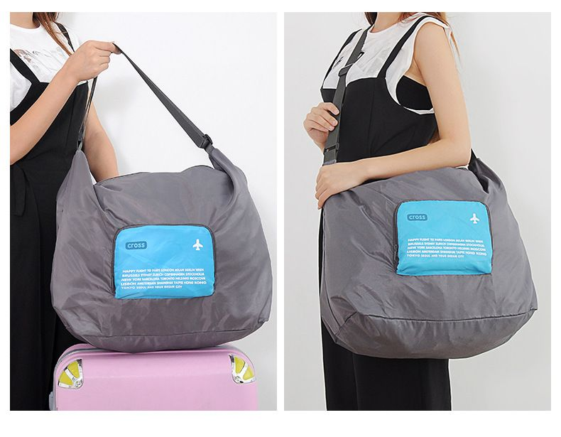 94e551045809 The New 2017 Multi-functional Zipper Waterproof Foldable Bag Portable  Travel One Shoulder Messenger Travel Totes