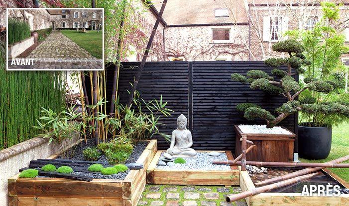 Avant apr s le relooking en photographies paisajismo garden backyard landscaping et - Deco jardin chinois poitiers ...