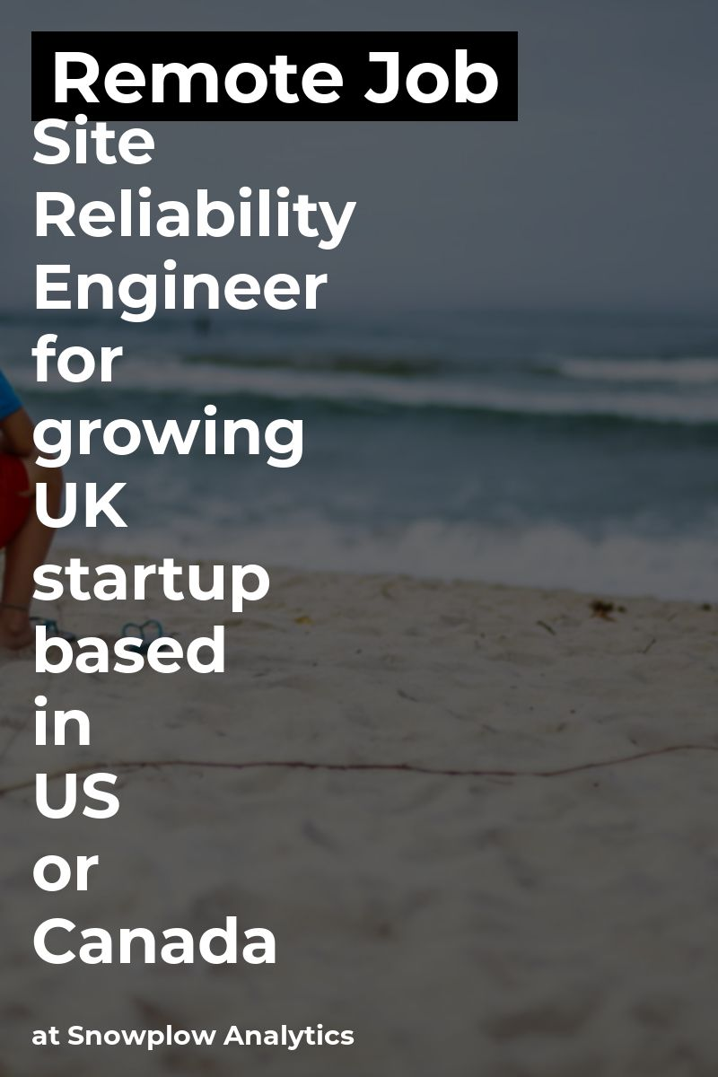 Remote Site Reliability Engineer for growing UK startup