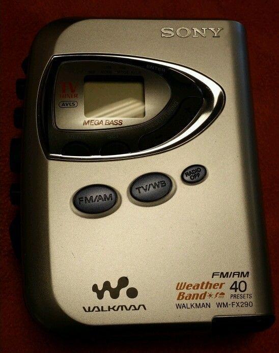 Sony Walkman WM-FX290 FM AM Radio TV Tuner Mega Bass Portable Cassette Player #Sony