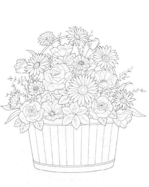 Floral Bouquets Coloring Book   Coloring pages first edition ...