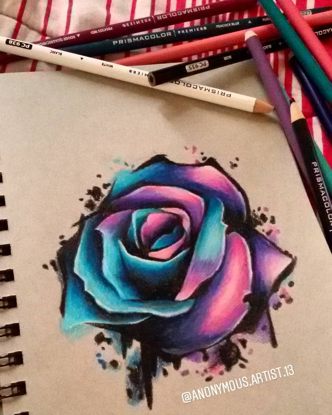 Rainbow Rose Drawing : rainbow, drawing, Rainbow, Rose~♡, Already, Faber, Castell, Colorpencils, Again, Prisma, Roses,, Roses, Drawing,, Drawing