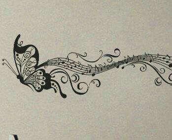 Musical Butterfly Meme Pinterest Tattoos Music Tattoos And